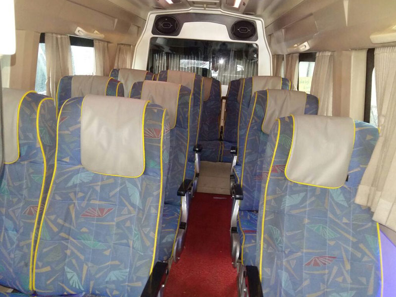 Tempo Traveller 13 Seater PKN With Extra luggage