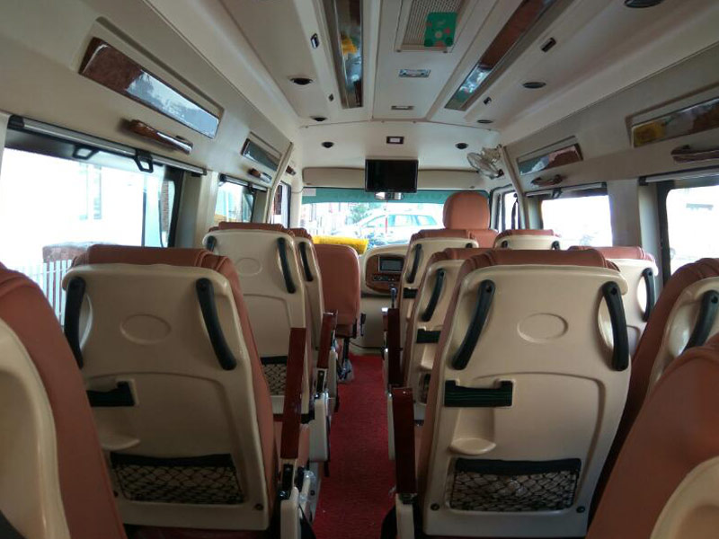 Car Rental With Car Seat >> 17 Seater Tempo Traveler On Rent Ahmedabad, Hire 17 Seat ...